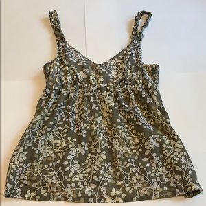 Tommy Bahama silk cotton tank top size 8